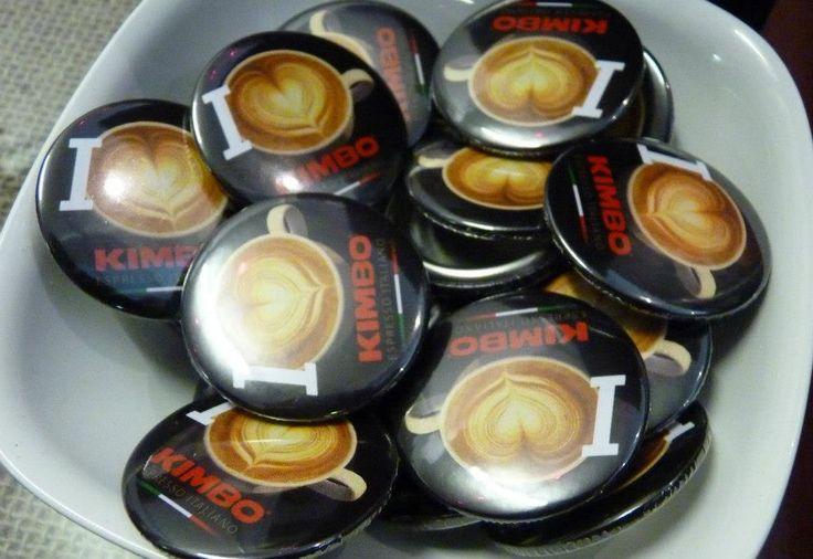 Kimbo badges.. Have you got yours yet? #coffee #welovekimbo