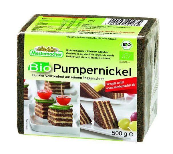 忙しい朝に便利ドイツの有機ライ麦パンメステマッハー プンパニッケル