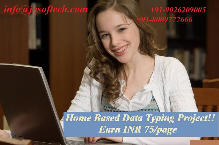 Earn money monthly typing text in MS-word is a best #offline #data #entry #project, your monthly earning will be INR 18000