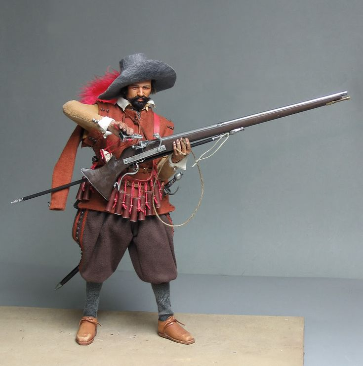 Spanish Tercio Musketeer at Ostende, 1604.