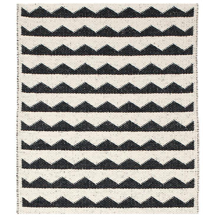 Gittan Rug, Black, Brita Sweden #rug #rugs #carpet #matta #design #royaldesign