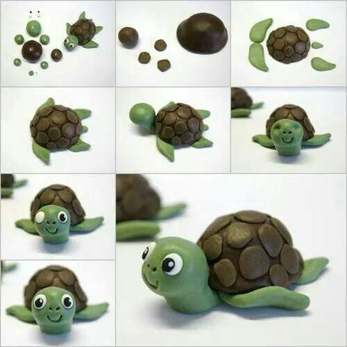 Schildpad van marsepein