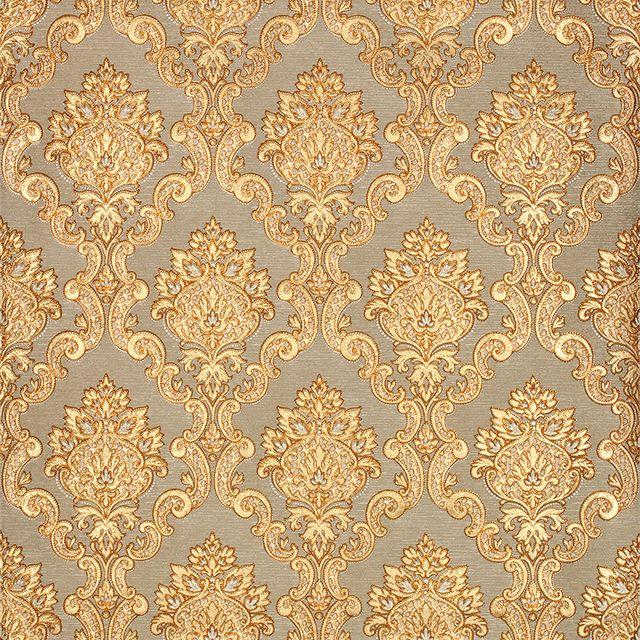 17 mejores ideas sobre dormitorio damasco en pinterest for Papel decorativo dorado