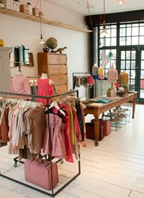 Ledbury Road | I like the L shaped clothes rack. #kids #shop #display