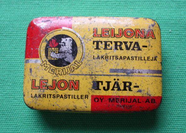 Vanha Terva Leijona -metallirasia. | Kuvakuja.fi