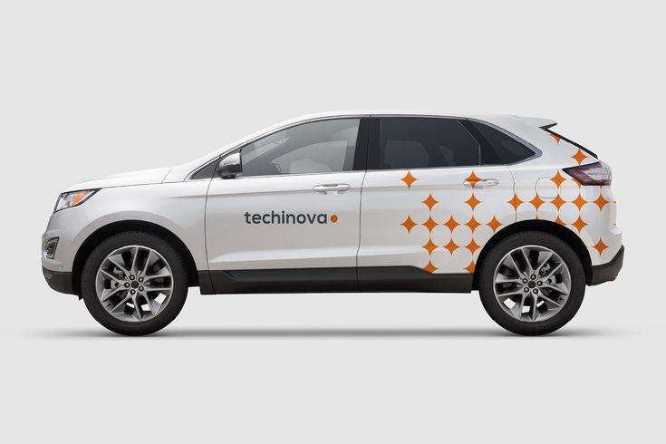 Grafisk profil till Techinova. Bildekor.