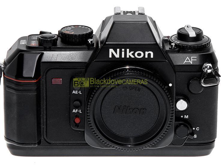 Blackdove-Cameras > Nikon F-501 (N2020) con dorso data e battery pack AA. OTTIMA! Garanzia 12 mesi.