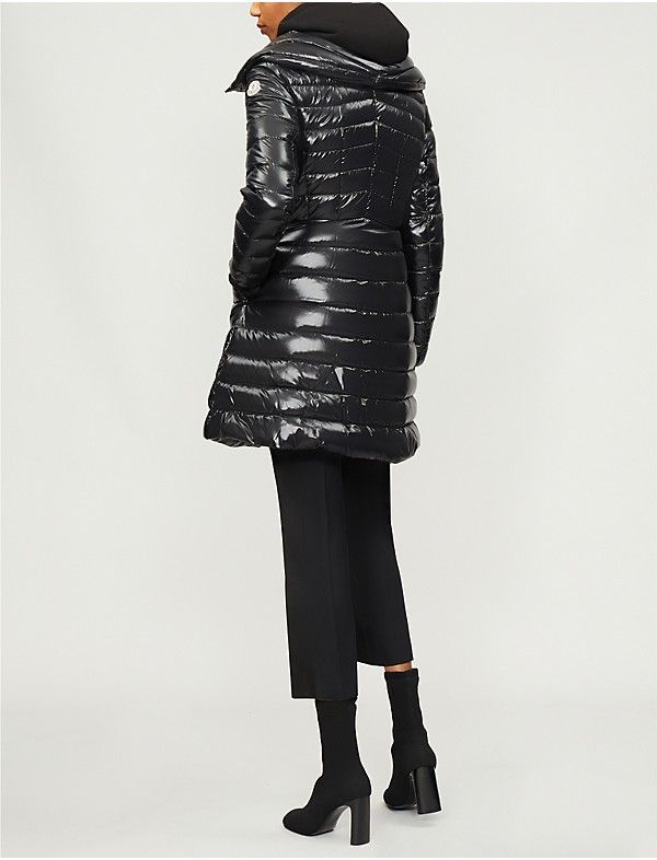 a8c585300bc1 MONCLER - Faucon quilted shell and down-blend coat
