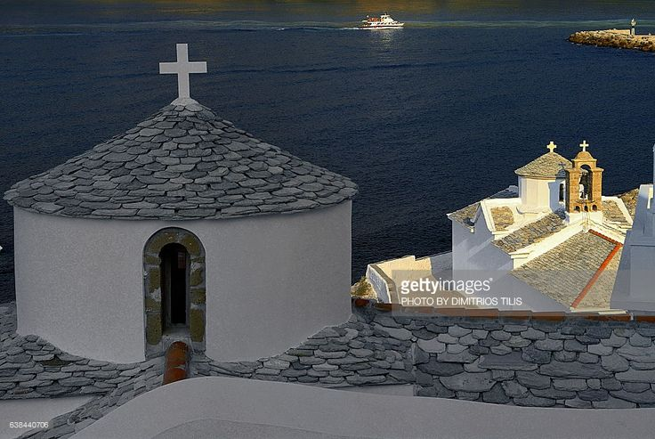 The most characteristic church of Hora Skopelos