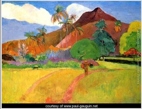 Paul Gaugin - Tahitian Landscape