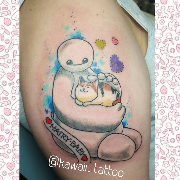 Big Hero 6s Baymax and Mochi tattoo done by me! email kawaiitattoo@gmail.com for consult and appointment!