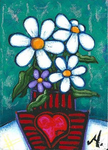 "Annie Robinson ""Mended Heart"" #art #painting #flowers #heart #DukeStreetGallery"