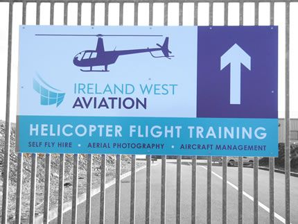 Project: Signboard Client: Ireland West Aviation, Co. Mayo, Ireland.