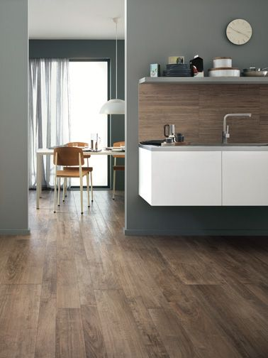 Celebrating the natural timber look with all the benefits of tiles is the Woodstyle range, pictured here in Cucina. Stunning!