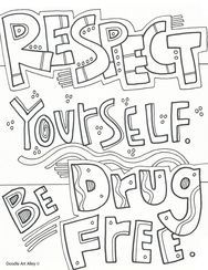drug free coloring pages - best 25 red ribbon week ideas on pinterest red ribbon