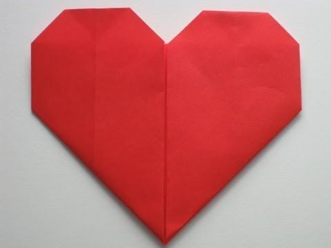 Easy Origami Heart Folding Instructions - How to Make an easy Origami Heart for Valentine's Day