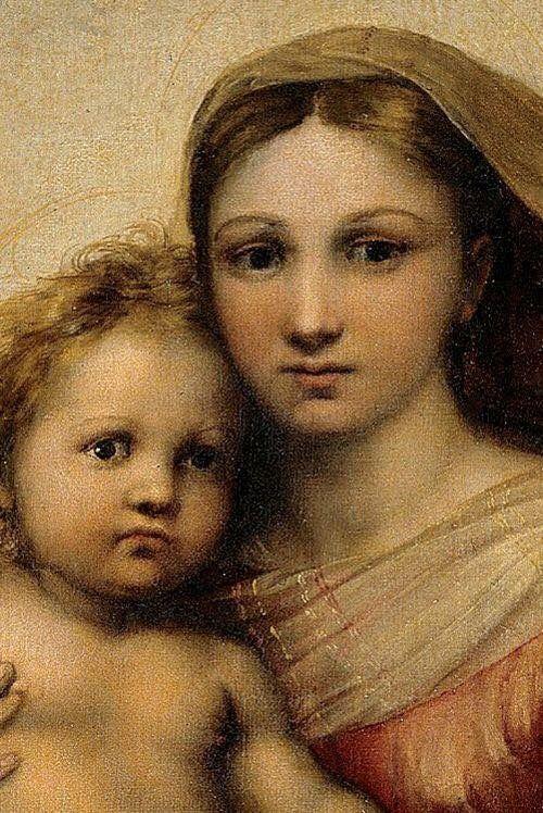 Raffaello Sanzio, la Madone Sixtine (détail), 1513-14.
