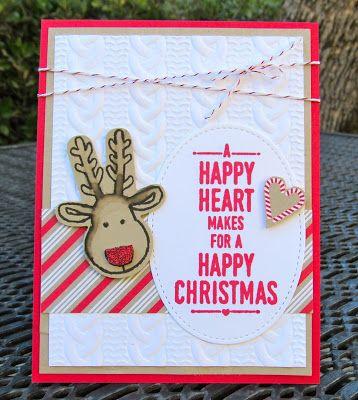 Krystal's Cards: Stampin' Up! Cookie-Cutter Reindeer #stampinup #krystals_cards