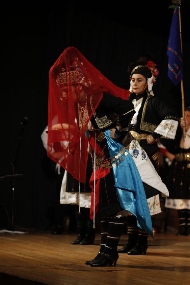 Macedonian Traditional bride's costume from Αlexandria,Imathia Macedonia, Greece