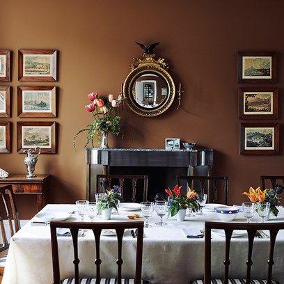 Dining Room - Charles Rutherfoord London House.Столовая - Charles Rutherfoord Лондонский дом. 餐厅 - Charles Rutherfoord 伦敦之家。
