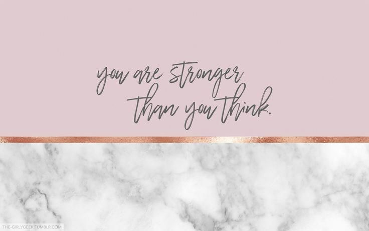 You Are Stronger Than You Think Laptopsfondos Laptop