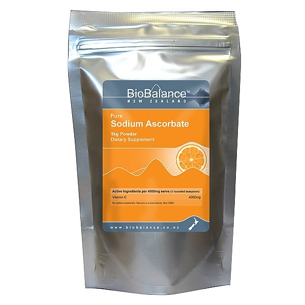 BioBalance Sodium Ascorbate powder is a non-acidic form of Vitamin C. Vitamin C has intrinsic antiviral and antibacterial properties, and may be beneficial: General immunity boosting, helping to ward off or prevent colds & flus, assisting the healing of wounds, and aiding the body in fighting infection.   Can be dissolved in water or juice.  http://www.healthpost.co.nz/supplements-and-natural-health/vitamins/vitamin-c/HPSDA/Sodium-Ascorbate-Powder.html