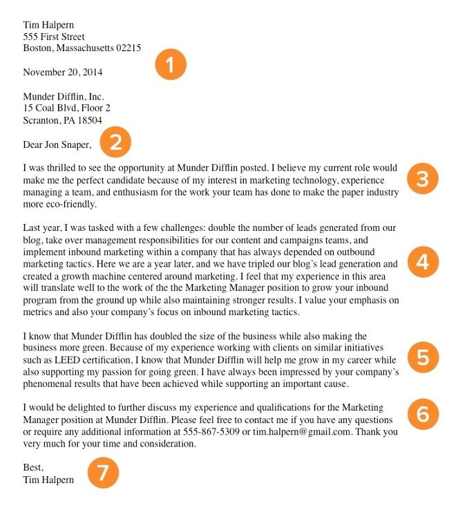 cover letter job samples