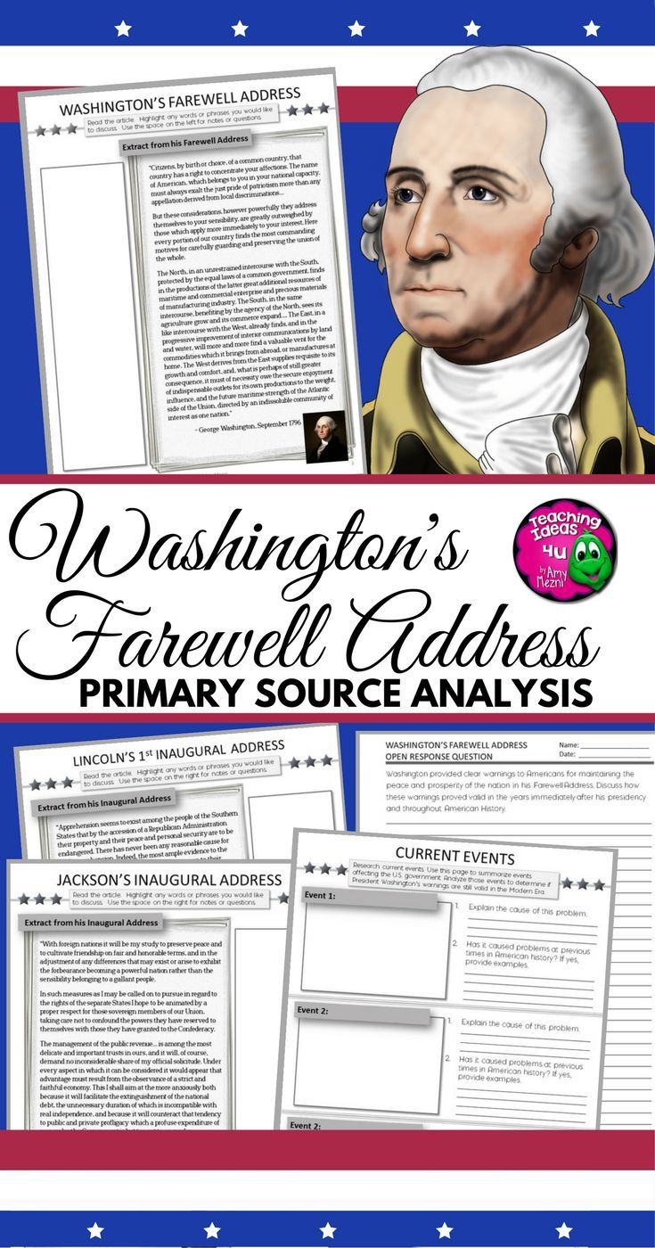 analysis of george washington s farewell address In part 3 of our series on washington's 1796 farewell address, we  him to  safely resign the office of president, and he has urged americans to.