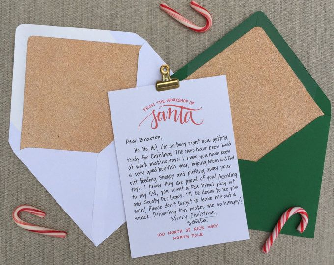 Ms de 25 ideas increbles sobre christmas letter from santa en letter from santa christmas letter santa letter gift idea for kids christmas printables personalized letter from santa claus download spiritdancerdesigns Gallery