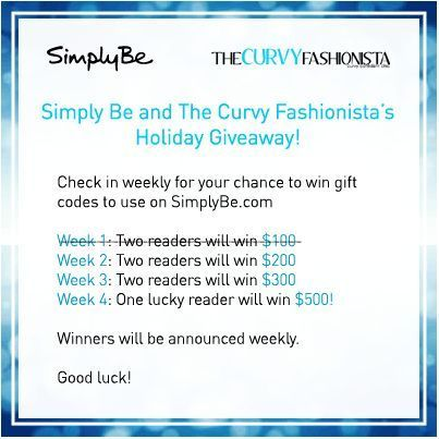 #TCFTurns4 Giveaway: Score Big with Simply Be (Week2)!: Score 300, Curvy Fashionista, Fashionista Turning, 500 Big, Score 500, Mr. Big, Tcfturns4 Giveaways, Score Big, Second Week