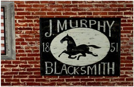 ANTIQUE BLACKSMITH HORSE WOOD WALL ART POSTER