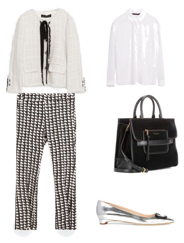 Spring monocrome work outfit by the925editor on Polyvore featuring Zara, Rupert Sanderson and Marc Jacobs