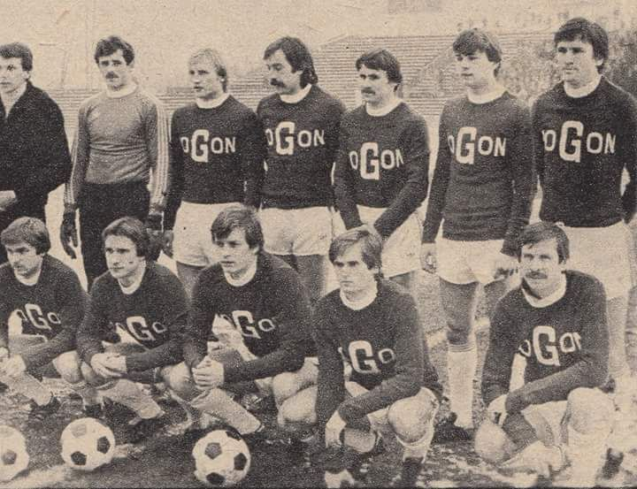 Love the design on these Pogoń Szczecin shirts from 1981-2