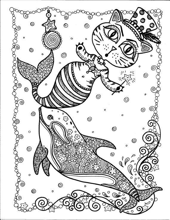 Instant Download Circus Mercat and Orca Art You by ChubbyMermaid