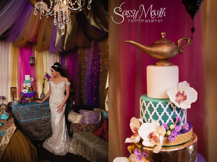 Aladdin Wedding Cake Princess Jasmine Bride Aladdin wedding Sassy Mouth Photography Photo CT Wedding Series