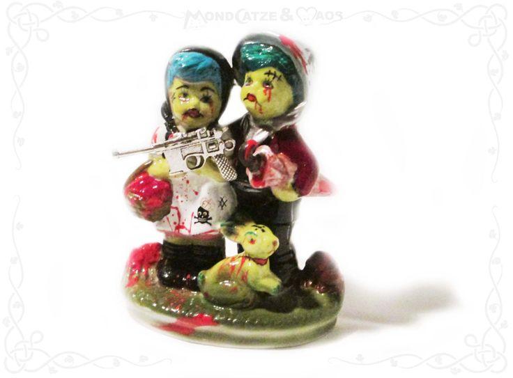 Porzellan, Figur HÄNSEL & GRETEL - Zombie Apokalypse von Mondcatzemaos auf Etsy
