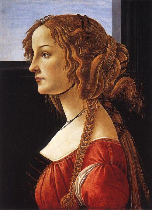 Sandro Botticelli, ritratto di giovane donna, dopo il 1480, BOTTICELLI, Olio su tavola, Staatliche Museen, Berlin