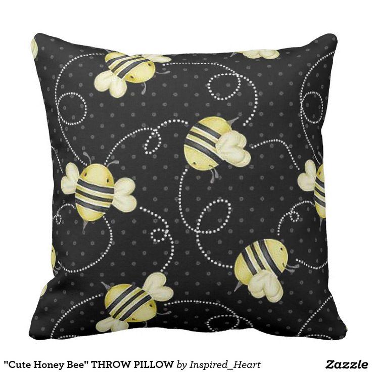 Cute Honey Bee THROW PILLOW