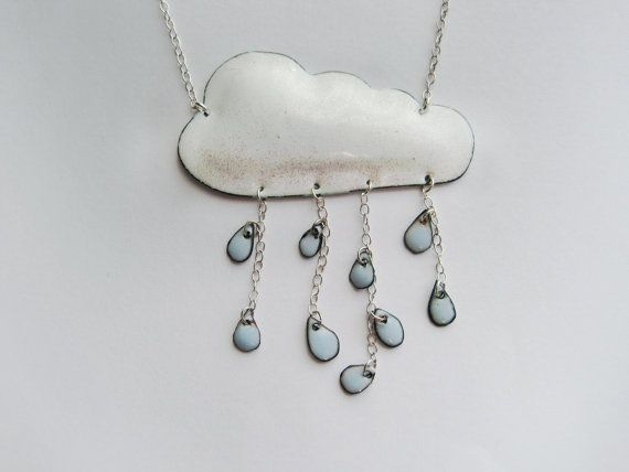 totally my style of enameling and so cool! i'm jealous! i've done clouds before, but it never occurred to me to rig the rain like that!