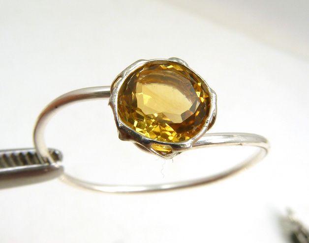 Citrin - Citrin Ring, Spirituelles Spielzeug - ein Designerstück von sas21 bei DaWanda