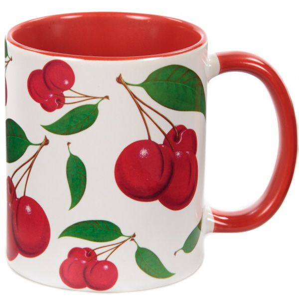 Cherry Pattern Vintage Coffee Mug