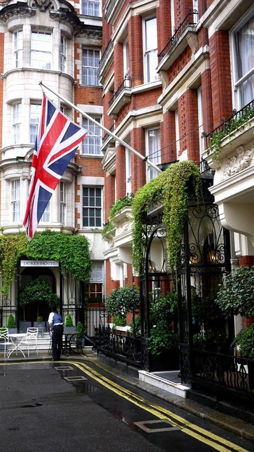 Dukes Hotel ~ this luxury boutique hotel is hidden down a quiet cul-de-sac in upmarket Mayfair near Buckingham Palace in London, England
