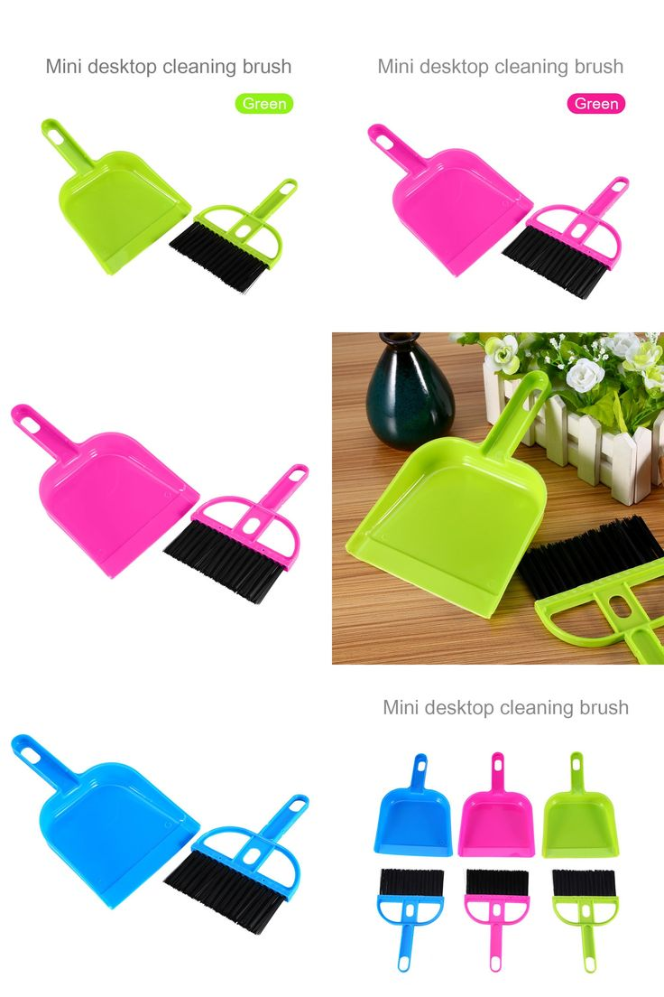 [Visit to Buy] High Quality Mini Plastic Hand Kitchen Dustpan And Brush Set Soft Cleaning Sweeper Dust Pan #Advertisement