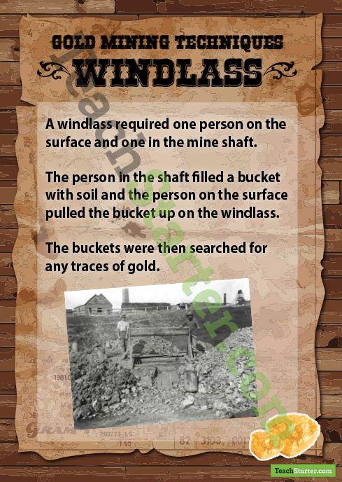 Gold Mining Methods - Windlass