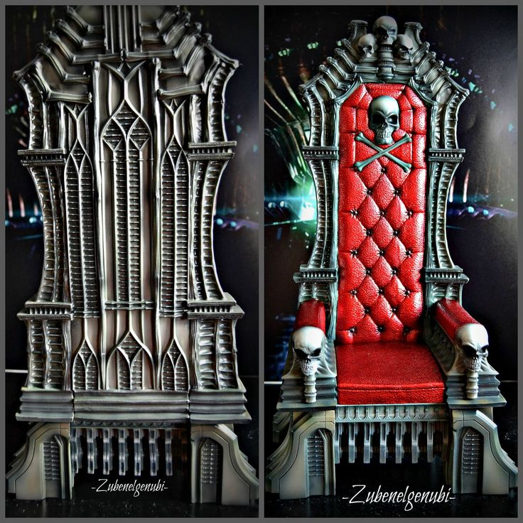 Throne front and back