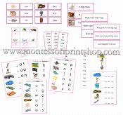 Montessori Pink Language Series Materials - Printable Montessori Language…