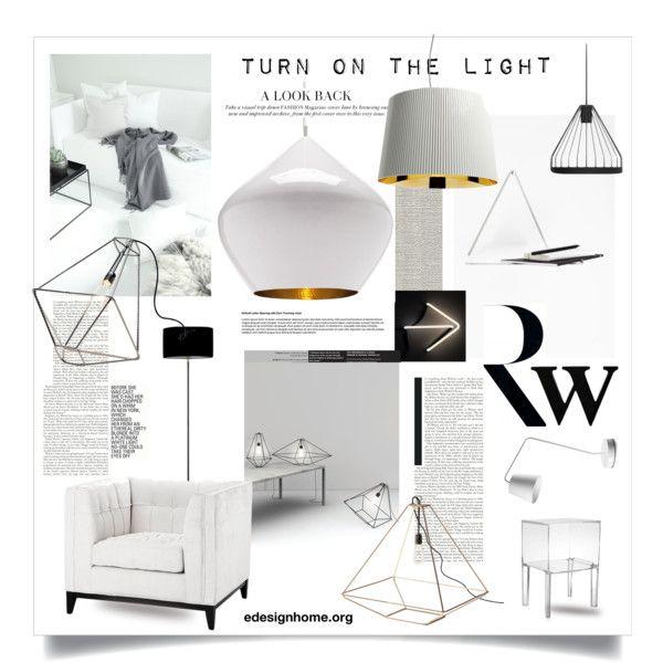 """Turn on the light"" by efashiondiva7 on Polyvore #white #minimal #interiordesign"