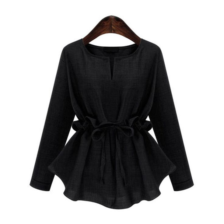 TWOTWINSTYLE 2017 Spring Long Sleeve Plus Size Back Waist Pullovers Bow Slim T shirt Women. Click visit to buy #Blouse #Shirt #BlouseShirt
