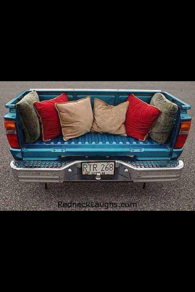 Throw the tailgate back on and you have storage for extra blankets and a day bed