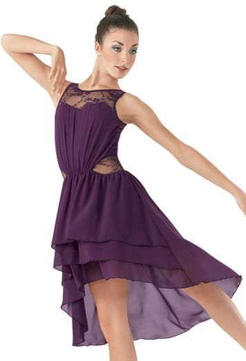 High-Low Lace Inset Dress #lyrical #dance #dress
